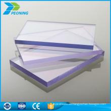 Alta calidad de bajo precio twinwall 8mm hueco pc uv protegido hoja de techado