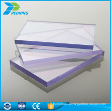 10 anos de garantia Folha de telhado plana de plástico de policarbonato anti-estático de 6 mm de espessura
