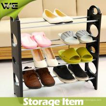 Grand support libre simple d'organisateur de chaussure de meubles autoportants simples de stockage