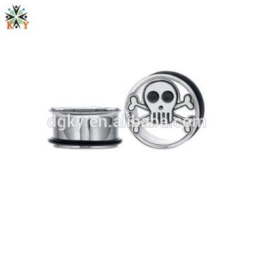 Orelha piercing aros Stainless Steel Flared Plugs