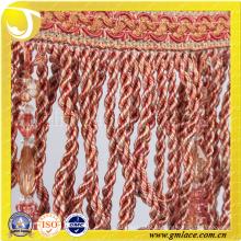 Китай Производитель Свадебные платья Костюмная ткань Сексуальная хрустальная красная щетка Fringe