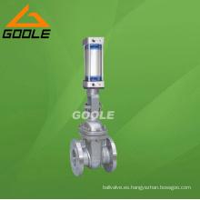 Válvula de compuerta con bridas neumática (GAZ641H)