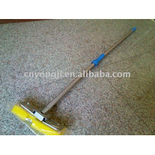 support en métal éponge de cellulose vadrouille avec deux sections Alu poignée