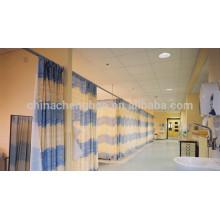 Pinch pleat top cortina de partición de hospital con dibujo