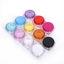 3G and 5g Square PS Plastic Jar Clear Jar for Gift Jar