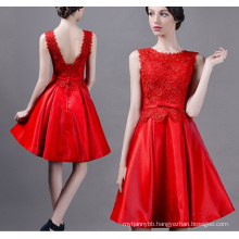 High Quality Backless Women Dress Hot Sale Red Color Women Party Dress
