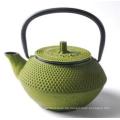 Grüner Gusseisen Teekanne mit Edelstahlgriff