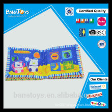 Baby first playmat intelligence toy with animal soft cloth book