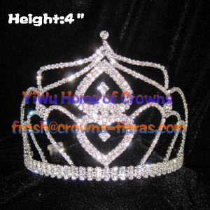 4inch Heart Shaped Crystal Crowns