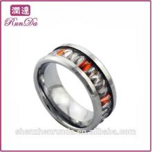 Alibaba oro miembros diamante anillos de acero inoxidable