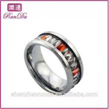 Alibaba anneaux diamant en acier inoxydable en or