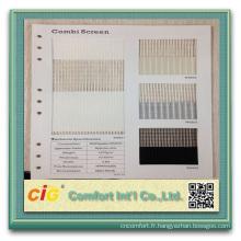 Écran Combi écran Zeer en PVC de haute qualité