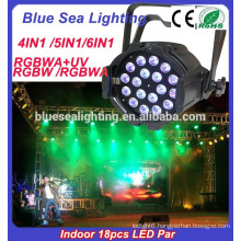 Factory price for 18x18w Indoor stage rgbaw uv led par light