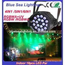 Preço de fábrica para 18x18w Indoor rgbaw estágio levou luz par