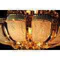 K9 Crystal Chandeliers Lighting Lámparas Colgantes Lámparas Luminarias Gold