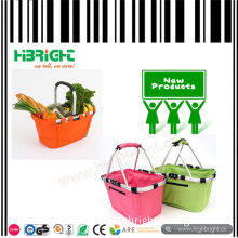 Foldable Colorful Woven Shopping Basket for Supermarket