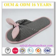Bowknot Streifen Trikot Mädchen Mädchen neuesten Design offenen Zehen Slipper Sandale