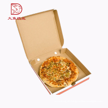 China personalizado impresso caixa de caixa de pizza de comida plana