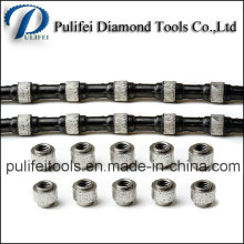 Frittage plaqué galvanisé perles diamant cercle utilisé scie à fil