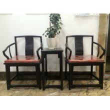Silla africana de los muebles del ébano 3sets