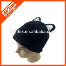 Venta al por mayor hecho a mano 100 poliéster gato sombrero de oído