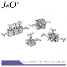 Instrumento de acero inoxidable adecuado Colector de válvula de 5 vías