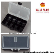 Clear Lid & Black Bottom 8 Compartment Storage Box