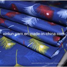 Tissu bleu de Jersey d'impression de Digital pour le rideau / literie