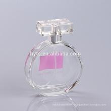 round shape empty glass perfume bottles 100ml
