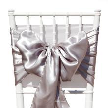 ceinture de chaise satin coloré. lien de chaise, noeud de chaise, décoration de mariage