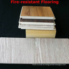 Tablero interior WPC del suelo laminado resistente al fuego WPC del piso laminado Fuerte durable y sano
