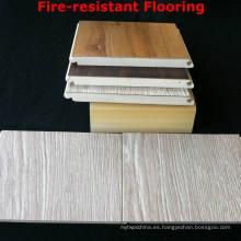 WPC Laminated Flooring Resistente al fuego Pisos WPC Interior Junta Fuerte Durable y Saludable