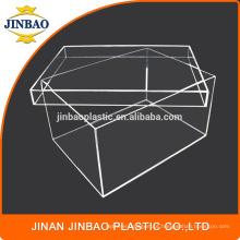 Caixa acrílica clara da sapatilha do plexiglás da caixa de exposição da caixa de sapata de Jinbao