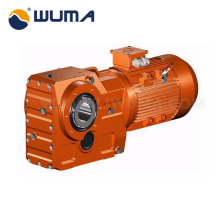 High torque helical gear with flange mounting motor