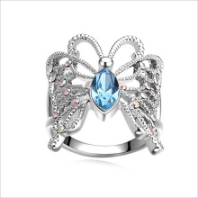 VAGULA Schmetterling Strass Mode Kristall Ring