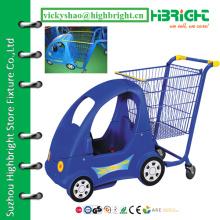 Carrinho de carrinho de bebê para mercearia, carrinho de compras para crianças, carrinho de transporte de supermercado para bebê
