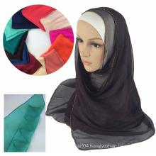 Yoyo Silk beading muslim scarf hijab muslim scarf
