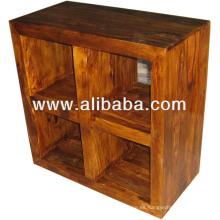 Cubo de diseño sheesham rack de madera