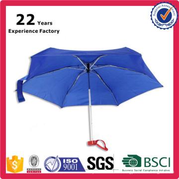 2017 Super Tiny UV Protection 19 inch 5 folding Pocket Size Promotional Umbrella Producer