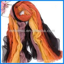 Echarpe en soie colorée à la mode Pashmina