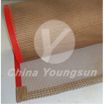 Belt conveyor Food Grade panas tahan PTFE mesh