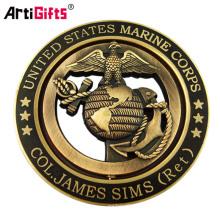 Entwerfen Sie Ihre eigenen 3D-Wunderkunstplastik Antik Gold Silber Bronze leere katholische Medaille