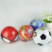 Ornamentos de la Navidad del metal de la forma de encargo, forma de la bola de estaño, forma de la bola Candy Tin