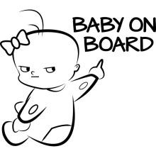 Bébé sur l'autocollant de bout de voiture pour voiture, conception personnalisée d'autocollant de voiture