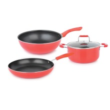 Nonstick Scratch Coating 4 Stück Kochgeschirr Set Induction Bottom