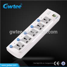 5 vías de sobrecarga de seguridad interruptor individual toma eléctrica conmutada