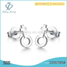 2015 hot sale stainless steel silver jewelry girl earring
