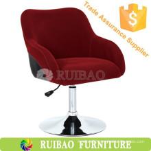 Royal Style Purplish Red Fabric Metal Frame Adjustable Swivel Bar Chair Wholesale