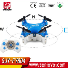 New Arrival SJY-FY804 Blue Quadcopter Mini Pocket Drone 2.4G 4CH 3D Roll Flying Helicopter Remote Control Toys Racing Quadcopter