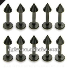 Custom labret piercing stud titanium labret jewelry